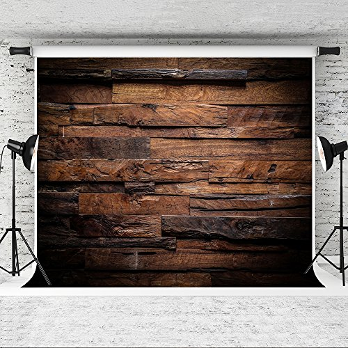 Kate 10x6.5ft Brown Wood Backdrop for Photographers Retro Wood Wall Background Cotton Cloth Seamless