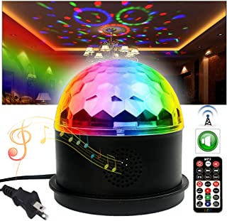 Dj Disco Ball Party Lights Bluetooth Speaker TONGK LED Magic Ball Colorful Mirror Ball Disco Lights Sound Activated Strobe Light for Home Party Gift Birthday halloween Dance Bar Xmas Wedding Show Club