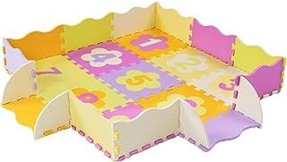 Locisne Tapis de jeu en mouasse Tapis de jeu doux pour enfants Tapis de jeu rampaant en mousse non toxique pour tapis de j...