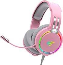 havit RGB Wired Gaming Headset PC USB 3,5 mm XBOX / PS4 / PS5-headset med 50 MM Driver, Surroundljud & HD-mikrofon, XBOX O...