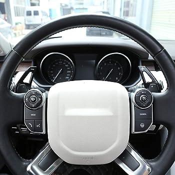 Eiseng Carbon Fiber Car Gear Shift Knob Box Panel Cover Frame Trim Cover for Land Rover Range Rover Evoque SUV 2012-2019