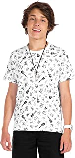 Camiseta Manga Curta Juvenil Menino Branco - Rovitex