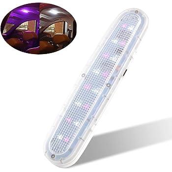 luce da soffitto sottile camper camion camper casa per interni auto con interruttore 36 LED bianchi rimorchio Luce di ricambio per auto a cupola