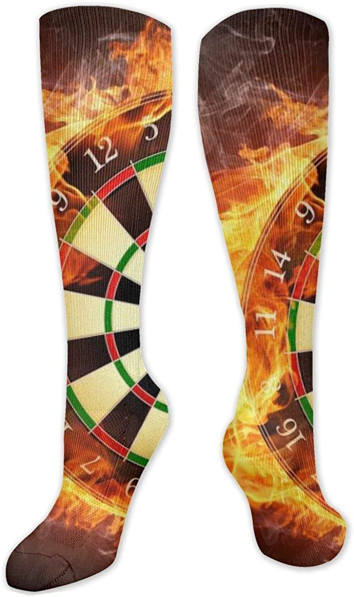 Fire Compass Knee High Socks Leg Warmer Dresses Long Boot Stockings For Womens Cosplay Daily Wear
