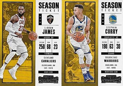 2017 2018 Panini Contenders NBA Basketball Series Complete Mint Basic 100 Card Veteran Players Set with Lebron James Stephen Curry Kevin Durant and More