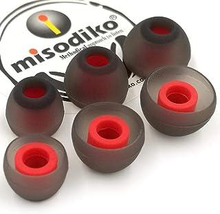 misodiko S450 Silicone Earbuds Tips - for Sennheiser CX 200 215 300 II, IE60/ Beats X, Powerbeats/Smokin' Buds, Ink'd, Met...