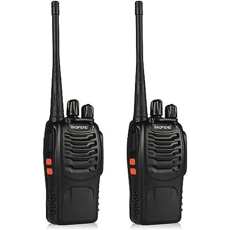 Baofeng BF-888S Radio de dos vías, Paquete de 2, Negro