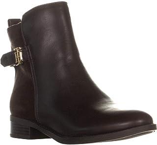 TOMMY HILFIGER Irsela Zip Up Ankle Heel Boots, Dark Brown