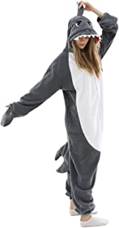 Adult Shark Pajamas Adult Cosplay Costume Shark One Piece Animal Pajamas Homewear Sleepwear for Women Men