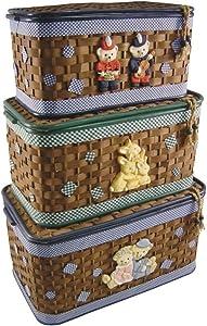 Aubry Gaspard kjo 105SC Truhen Spielzeugtasche aus Bambus
