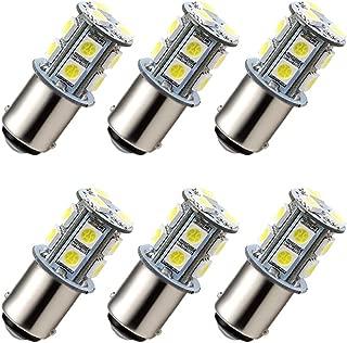 GRV Ba15d 1076 1142 High Bright Car LED Bulb 13-5050SMD DC 12V Cool White Pack of 6
