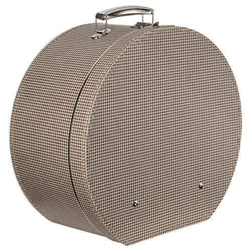 Lierys Caja para Sombrero Pata de Gallo Mujer/Hombre - Made in The EU sombrerera Verano/Invierno - Talla única marrón