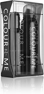Colour Me | Black | Eau de Toilette and Body Spray | Fragrance 2 Piece Gift Set For Men | Woody Aromatic Scent | EDT Spray - 3 oz /  Body Spray - 5 oz