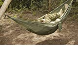Snugpak Tropical Hammock, Lightweight Parachute Nylon, Includes 2 Steel Carabiners, Supports 400 Pounds