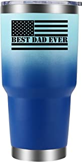 Best Ever Dad Tumbler 30oz Light Blue Best Dad Ever Flag. Ideal birthday present for Dad from Daughter or Son. Best Ever D...