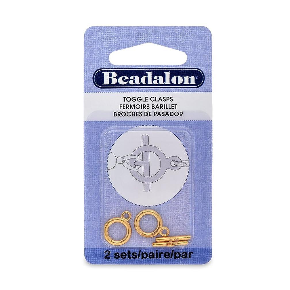 Artistic Wire Beadalon Toggle Medium Nickel Free Gold Plated, 2-Set