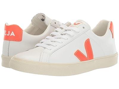 VEJA Esplar Logo (Extra White/Orange Fluo) Shoes
