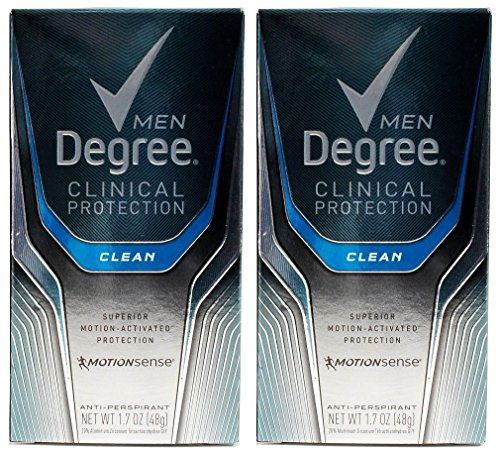 Degree Men Clinical Antiperspirant, Clean, 1.7 Ounce (Pack of 2)