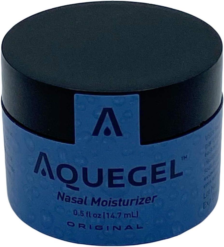 Aquegel Nasal Moisturizer, 12-Hour Relief, Water Based Nasal Gel for Nosebleeds, Oxygen Concentrator, Liquid Oxygen, CPAP, Dry Nose, Nasal Irritation, & Cracked Nose. Better Than Saline Sprays.