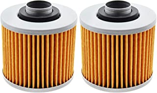 2 Pack Yerbay Motorcycle Oil Filter for Yamaha BW350 1987 / FZR250 EXUP Genesis 1989-1990 / YD250 3NU