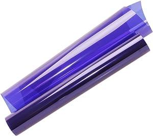 HOHOFILM Purple Clear Window Film for Home & Building Glass Decoration Self-Adhesive Window Tint Sun Blocking UV Proof for All Windows,35.4