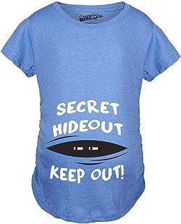Maternity Secret Hideout Baby Peeking Maternity Shirt Funny Pregnancy Shirts