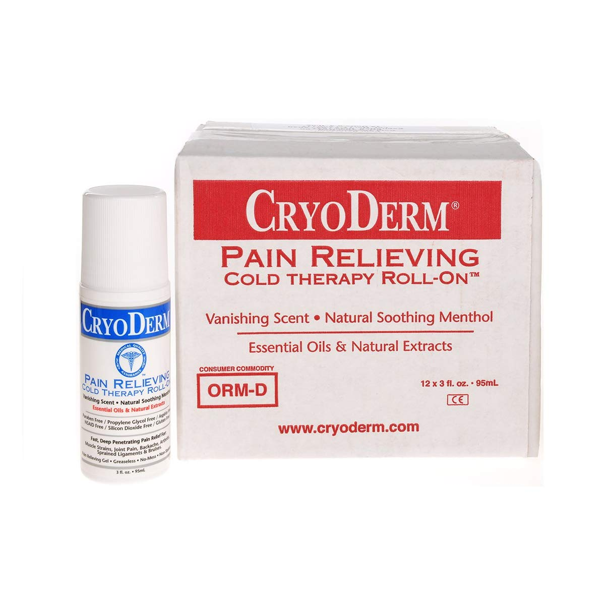 Cryoderm D-Roll-On-3oz-12 Cold Spring new work Bombing free shipping one after another Roll-On 3 of 12 Pack oz.