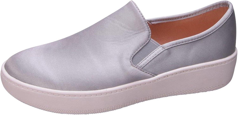 Cambridge Select Women's Classic Closed Round Slip-On Toe Casual Stretch Flatform Sneaker