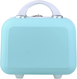 Genda 2Archer Small Cosmetic Suitcase Abs Hard Shell Luggage Vanity Case 14Inch Blue