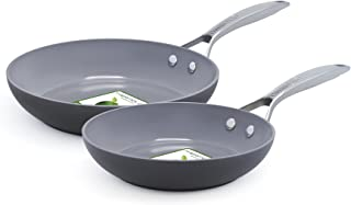 GreenPan Paris 2 Piece Ceramic Non-Stick 8 Inch and 10 Inch Open Frypan Set