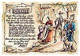 Die Staffelei Geschenk Karte A5 Polizei Polizist Polizisten Gedicht Zeichnung Color