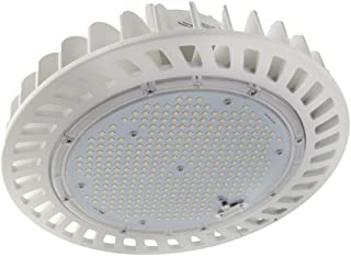 UFO LED High Bay Light 150W [Equal to 400W HID] 22,500 Lumens DLC Premium and UL Listed 150 lumens per watt High Output LED with Lumileds Chips for Warehouse, Manufacturing, and high Ceilings.