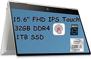 2021 HP Envy x360 プレミアム 2 in 1 ノートパソコン コンピューター I 15.6インチ FHD IPS タッチスクリーン I Intel 4-Core i5-10210U(>i7-8650U) I 32GB RAM 1...