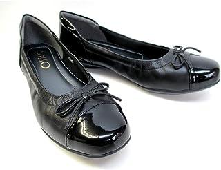 [サッソー] 103 レディース カジュアルシューズ フラット 革靴 リゾート靴 仕事靴 クシュクシュ リボン付き