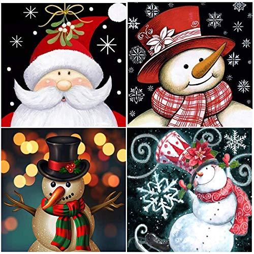 birdsunshine - Kit per pittura con diamanti 5D di Natale, per bambini, adulti e regali di Natale