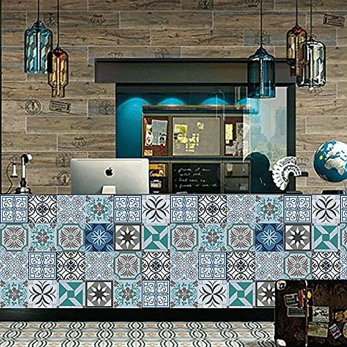 Pegatinas de pared grises en blanco y negro Azulejos de pared Pegatinas de azulejos, PVC ambiental Decoración autoadhesiva móvil Baño de cocina 15cm * 75cm 5pcs