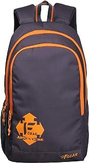 F Gear Castle Rugged Base Grey Orange 22 Ltrs Casual Backpack (2180)