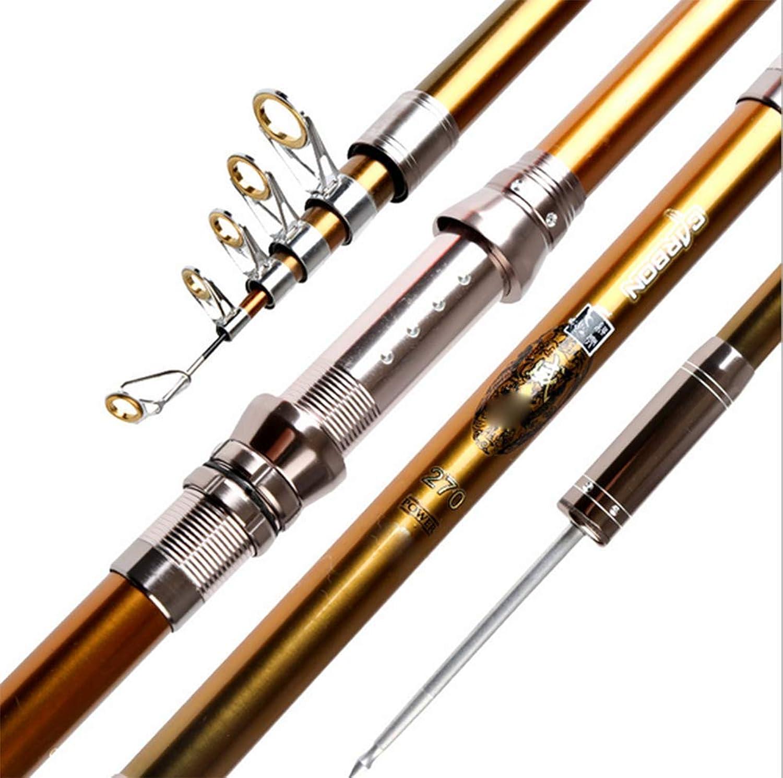 Sea Fishing Rod, Metal Guide Ring Telescopic Rock Fishing Far Throwing Fishing Rod,