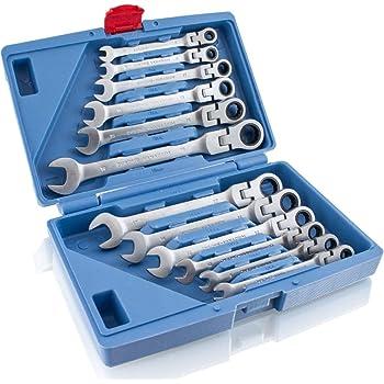 Ratschenschlüssel Ratschen Knarrenschlüssel Ringschlüssel 6mm-32mm Knarren  #❤