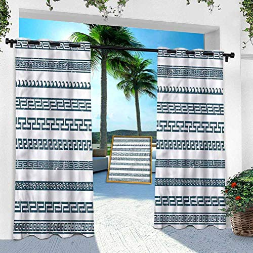 Aishare Store - Cortina para patio al aire libre, diseño vintage griego grunge, 95 pulgadas de largo, resistente panel interior para porche, balcón pérgola, toldo para carpa (1 panel)