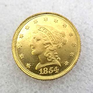 WuTing 1854 Antique Indian Head/Eagle Coin - Great American Commemorative Old Coin-Uncirculated Morgan Dollars-Discover History of Coins-Handmade Art Coins Great American Coin
