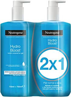 Neutrogena Hydro Boost Loción Corporal en Gel - Pack de 2 x 750 ml - Total: 1500 ml