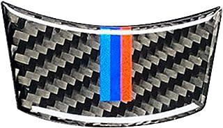 Busirde Para BMW Serie 5 E60 2004-2010 Fibra de Carbono M-Raya Volante del Coche Cubierta de Accesorios