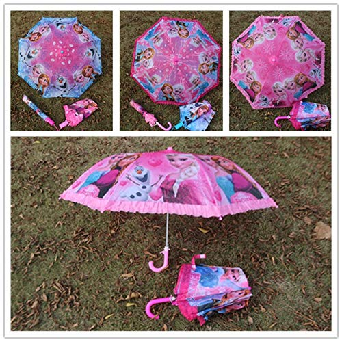 JSJJARD Paraguas Plegable Gancho niños niños niños y niñas Paraguas Lindo Regalos...