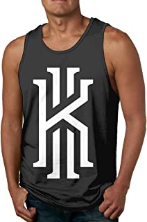 Mark Stars Kyrie K Irving Logo Camiseta Blanca sin Mangas para Hombre Camiseta Deportiva Camisetas Gym