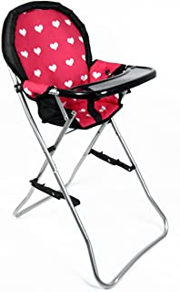 "The New York Doll Collection A166 18"" Doll High Chair, Pink"