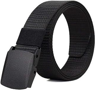 "Ratchet Belts for Men, 1.5"" Nylon Web Work Belt Ajustable Casual Utility Military Belt With Plastic Buckle no hole"