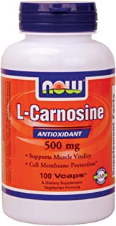 Now Foods L-Carnosine 500 mg - 100 Vcaps 3 Pack