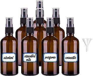 comprar comparacion pulverizador cristal, botella de vidrio atomizador rociador 8 piezas, con 1 embudo y 1 etiqueta, para aceites esenciales, ...