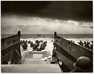 Into the Jaws of Death – D-Day (1944) Vintage – 11×14 Unframed Print..